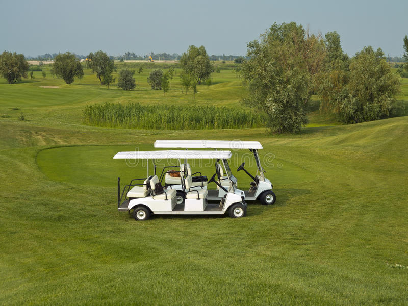 Golf Cars Stock Images