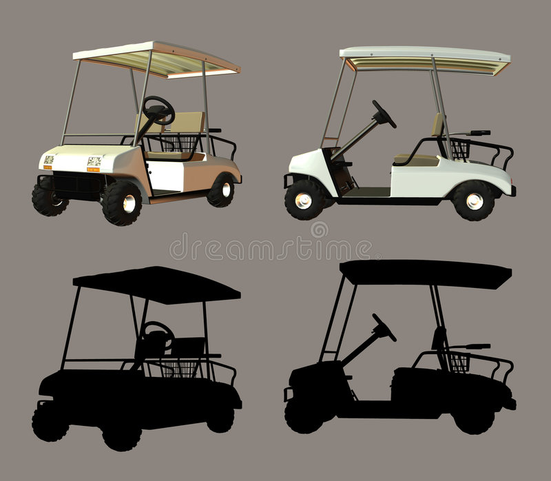 Download Golf Cart stock illustration. Image of outdoor, poser - 1937644