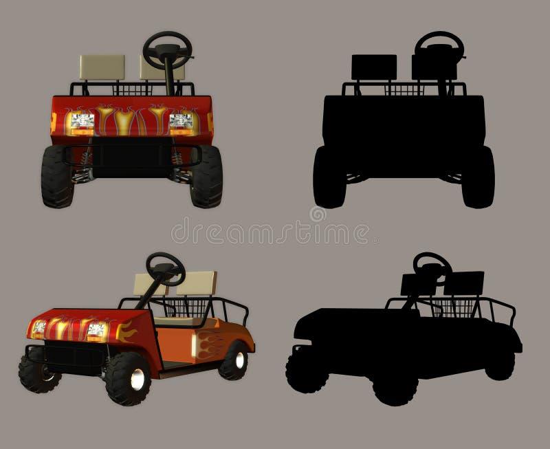 Download Golf Cart stock illustration. Image of lifestyle, rendered - 1937698