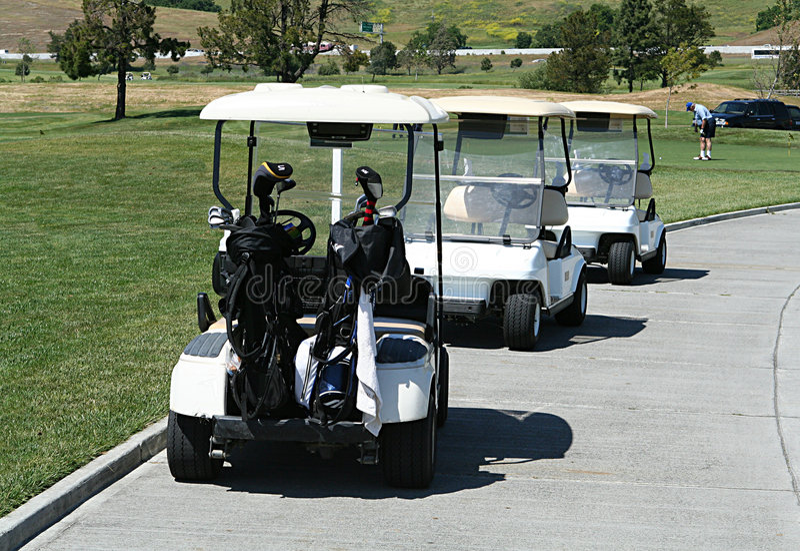 golf cart fotografia stock