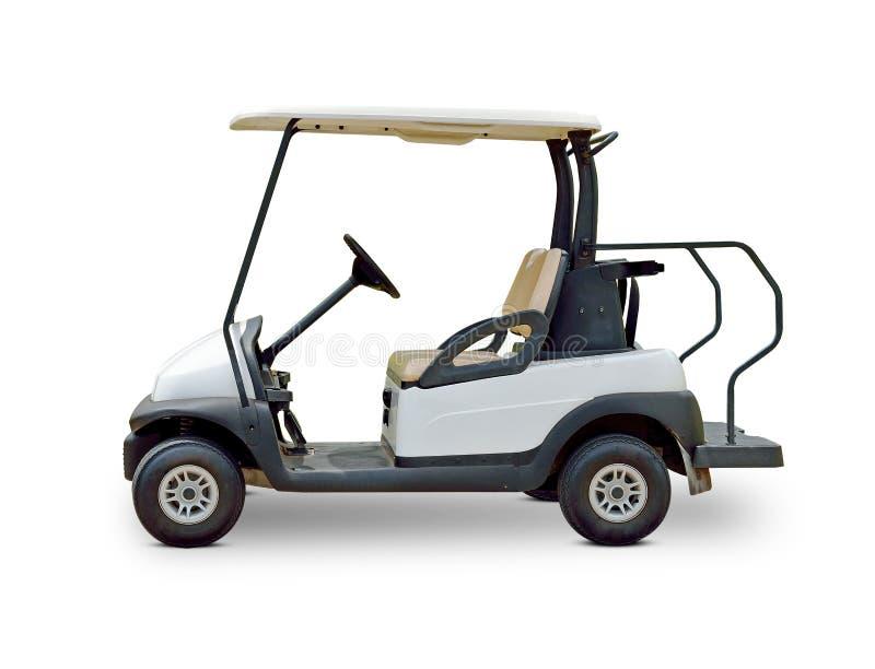 Golf cart golfcart isolated on white background stock photo