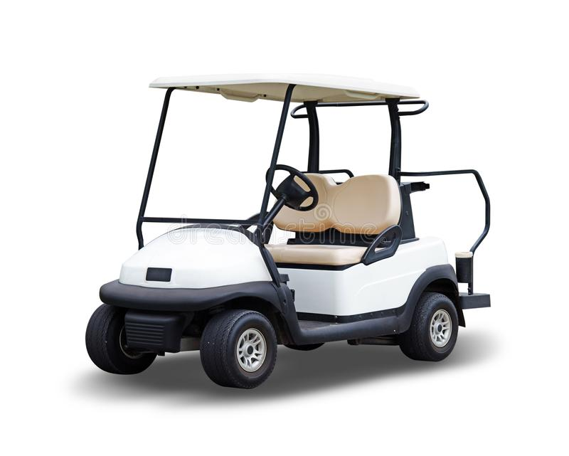 Golf cart golfcart isolated on white background royalty free stock photography