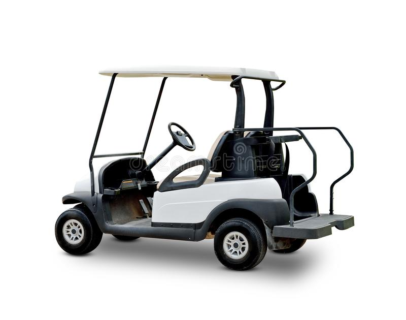 Golf cart golfcart isolated on white background royalty free stock photos