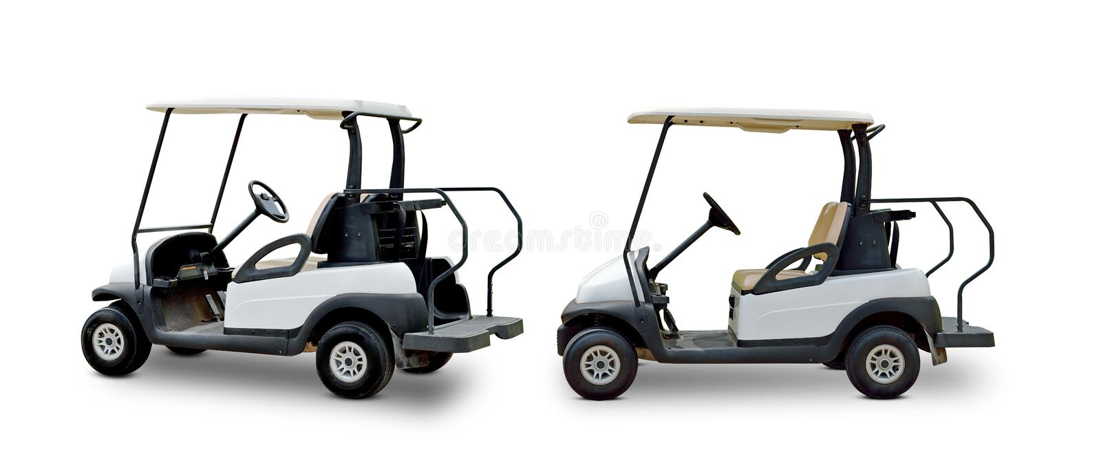 Golf cart golfcart isolated on white background stock photography