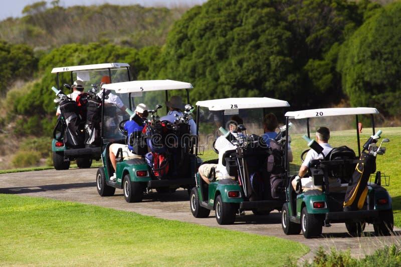 Golf carts stock photo