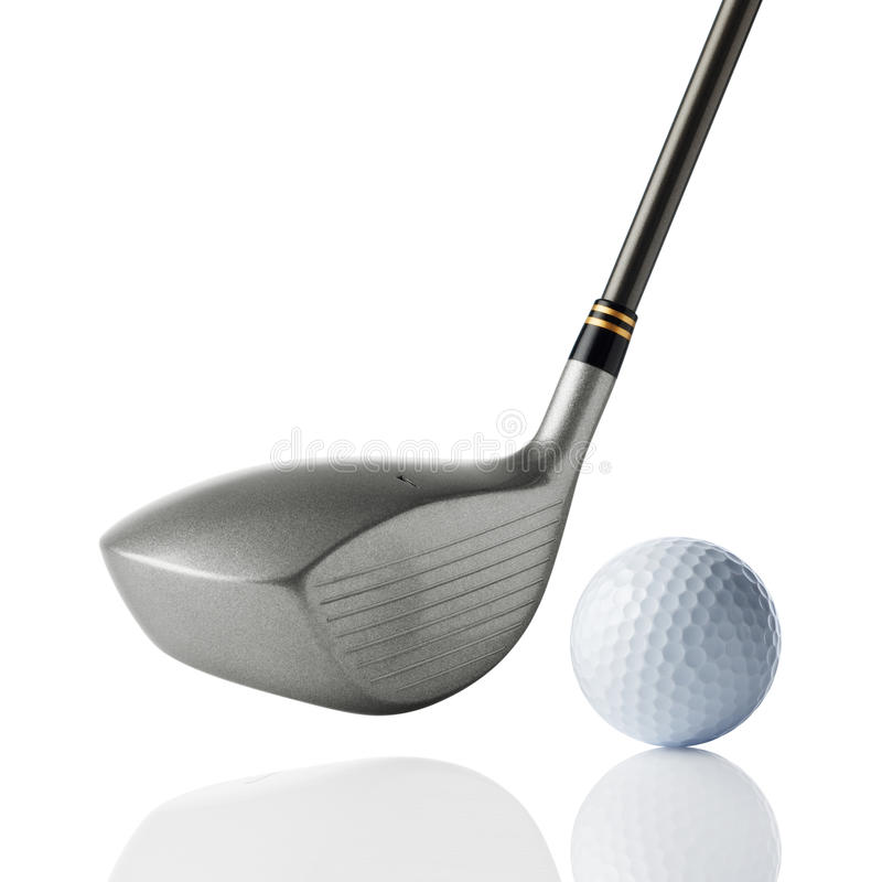 Golf club with ball royalty free stock images