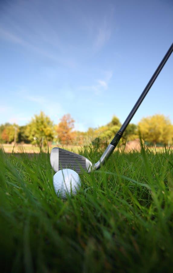 Golf club and ball stock image