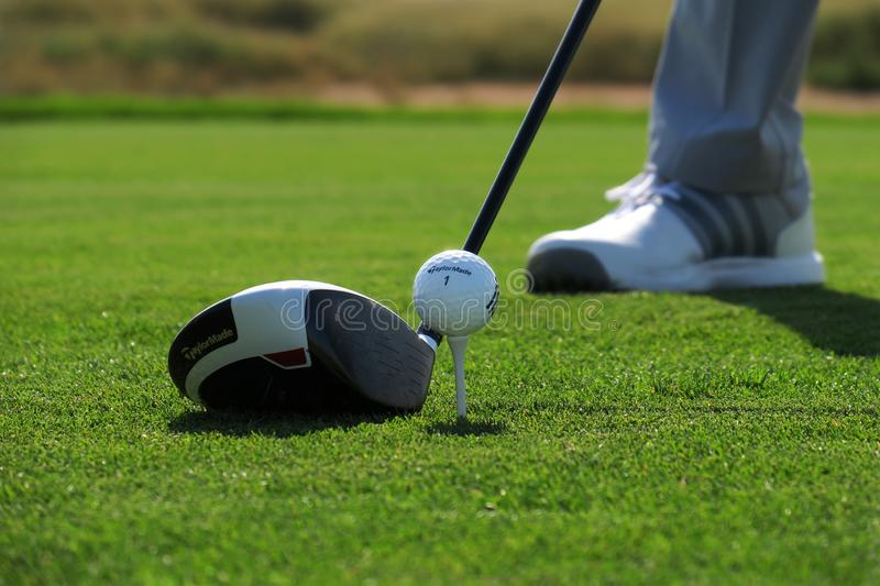 Golf club and a ball royalty free stock photography