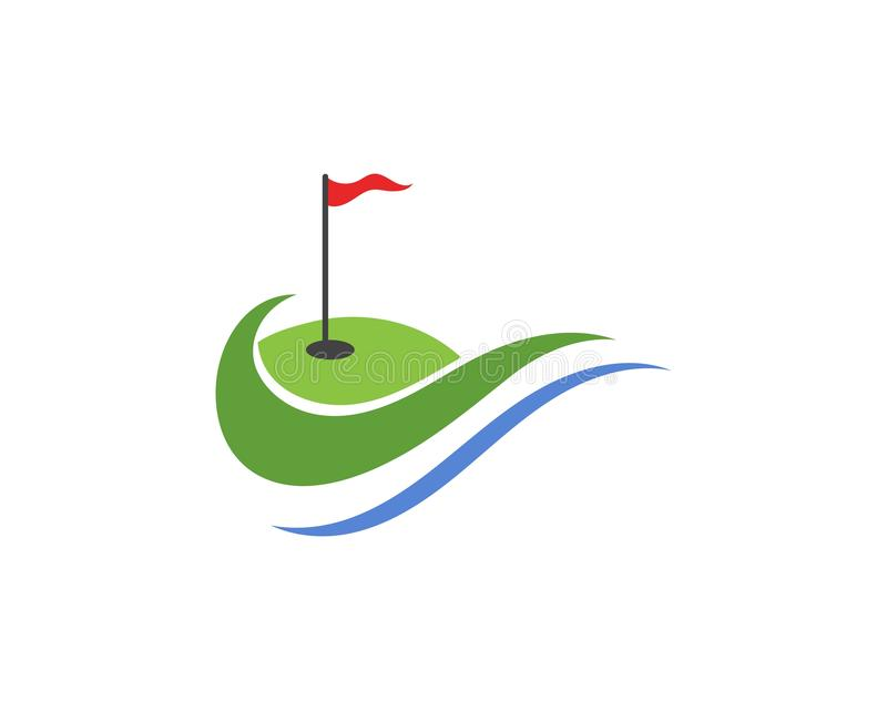 Golf club icons symbols elements and logo vector images stock illustration