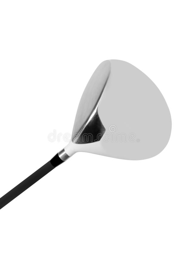 Golf club isolated on white stock photos