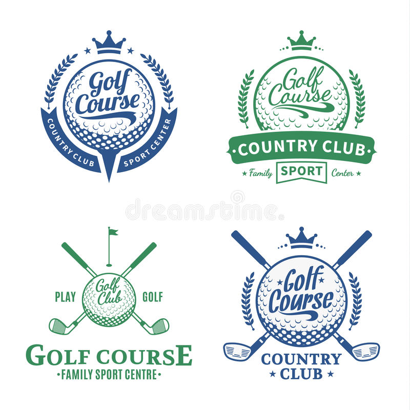 Golf Club Logo. Golf labels with sample text. Golf icon for golf tournaments, organizations and golf country clubs