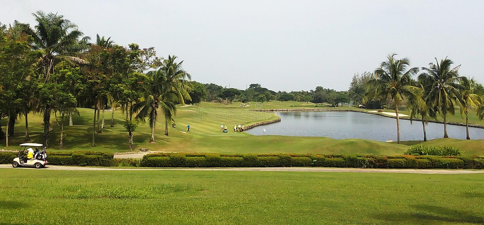 Golf Club Relax in Thailand stock photography