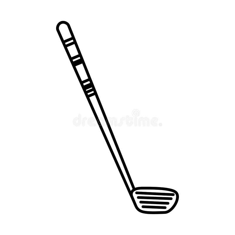 Golf club sport icon stock illustration
