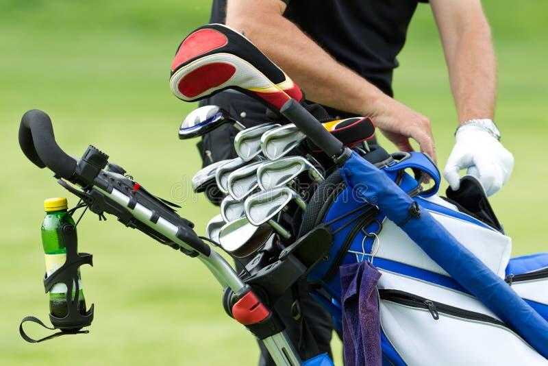 Golf clubs royalty free stock photos