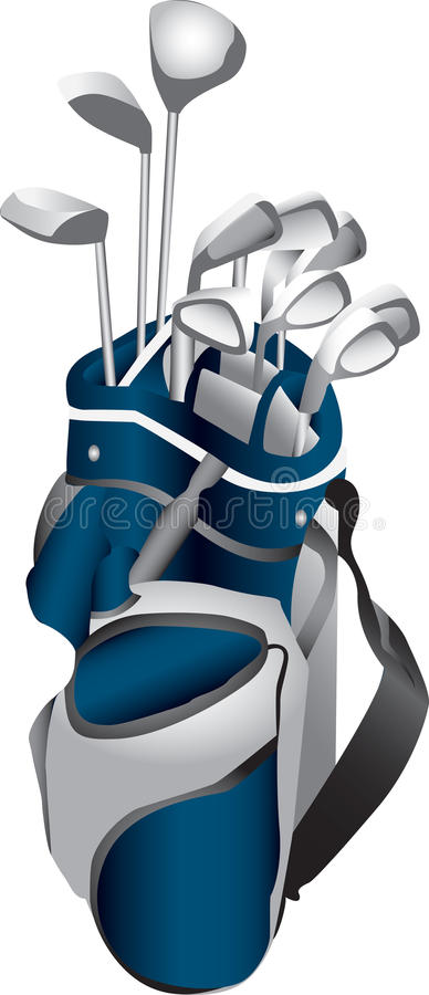 Golf Clubs in Bag stock illustration