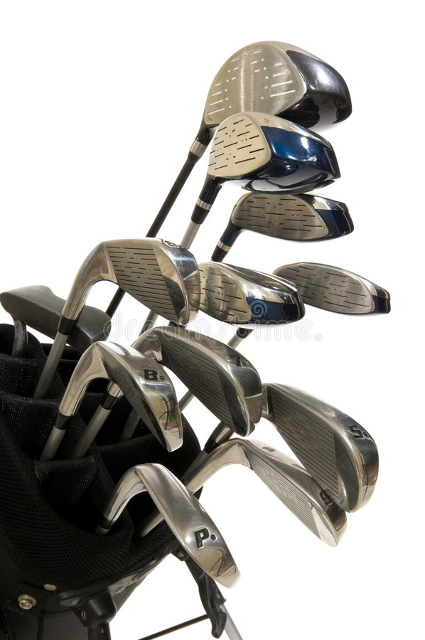 Free Golf Clubs On White Royalty Free Stock Images - 3499529