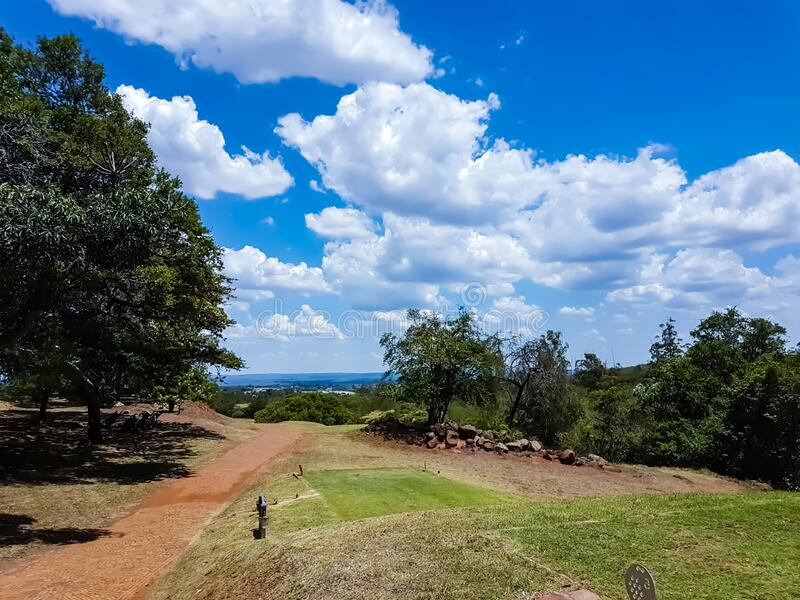 Golf coarse on a sunny day stock photo