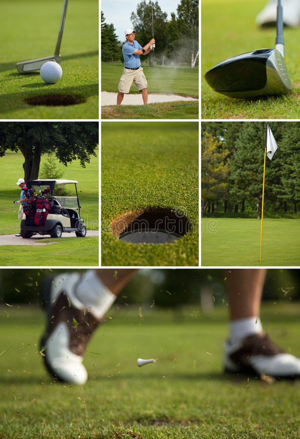 Golf Collage royalty free stock images