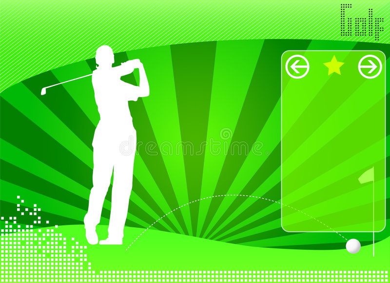 Golf concept background vector