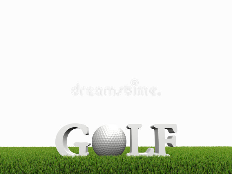 Download Golf concept on green gras stock illustration. Illustration of competition - 10873691