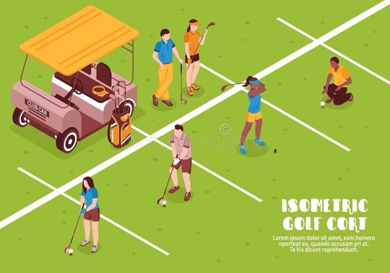 Golf Cort Illustration stock illustratie