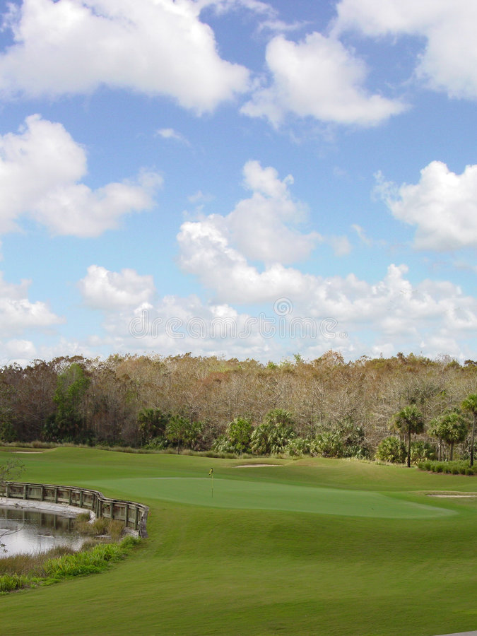 Download Golf Course stock image. Image of boogie, birdie, lake - 1022335