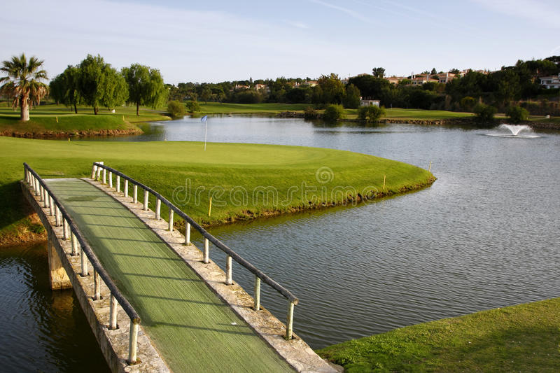 Download Golf Course stock photo. Image of lago, golf, flag, activity - 13252570