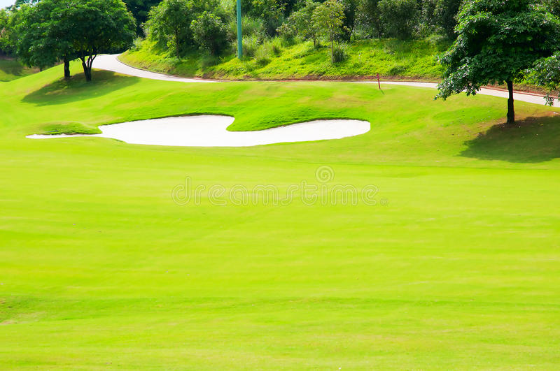 Download Golf course stock photo. Image of yellow, tree, skies - 18795458
