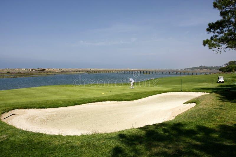 Download Golf Course stock photo. Image of golf, bridge, flag - 19731494
