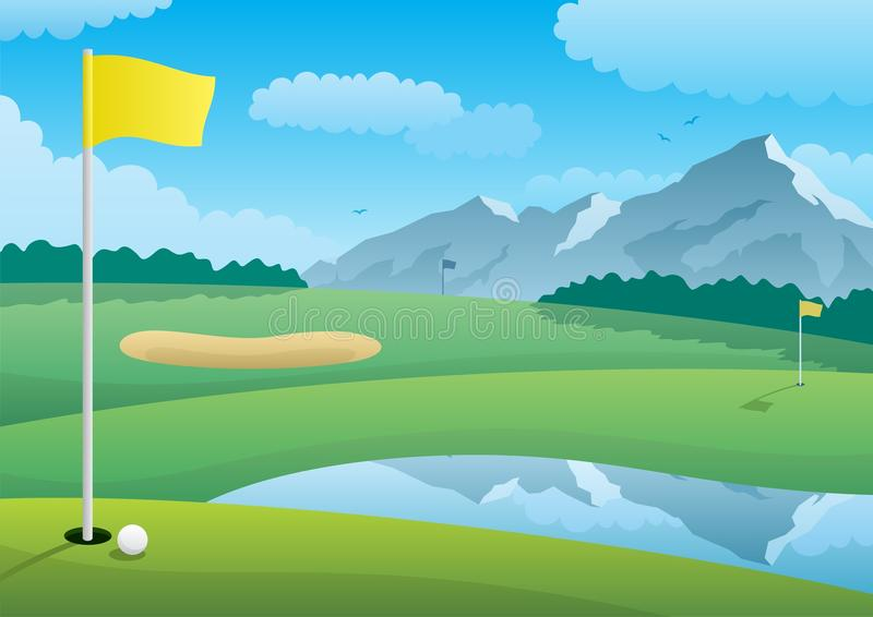 Download Golf Course stock vector. Image of mountain, illustration - 20623798