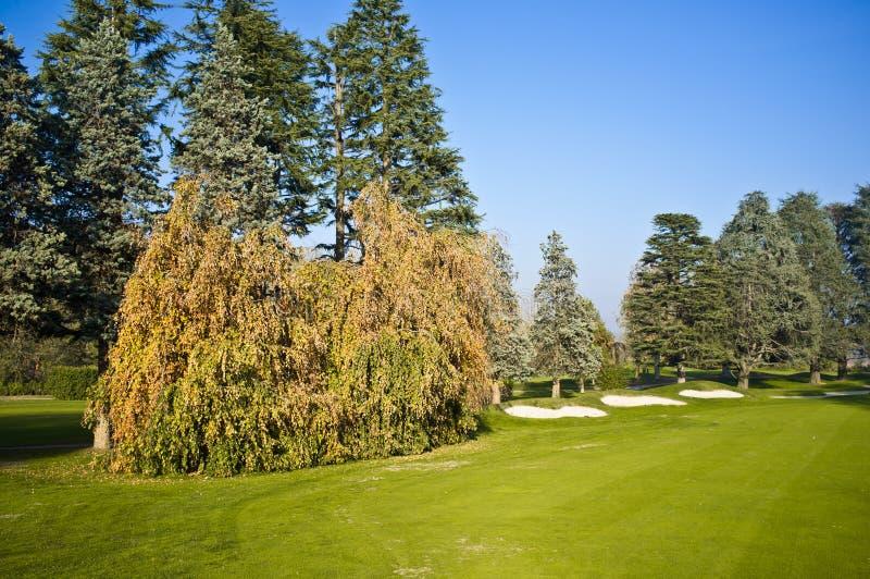Golf Course. Italian Colf Course - Autumn Colors royalty free stock photo
