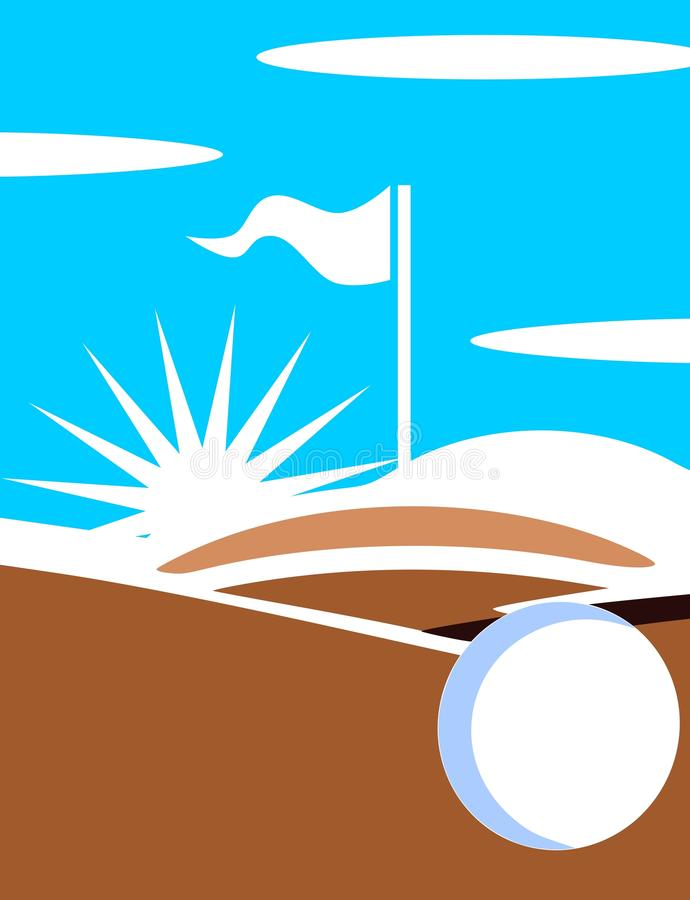 Download Golf course stock vector. Image of close, foreground - 24221172