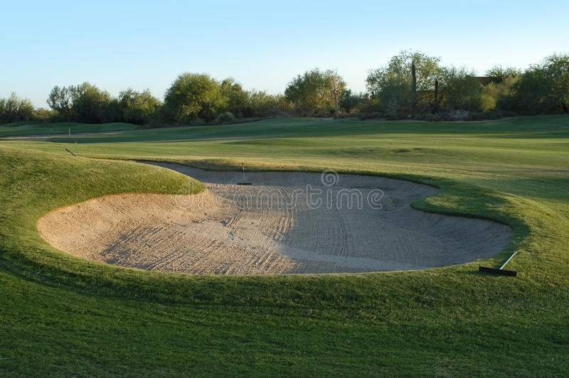 Download Golf course stock image. Image of golf, evening, sand - 25250559
