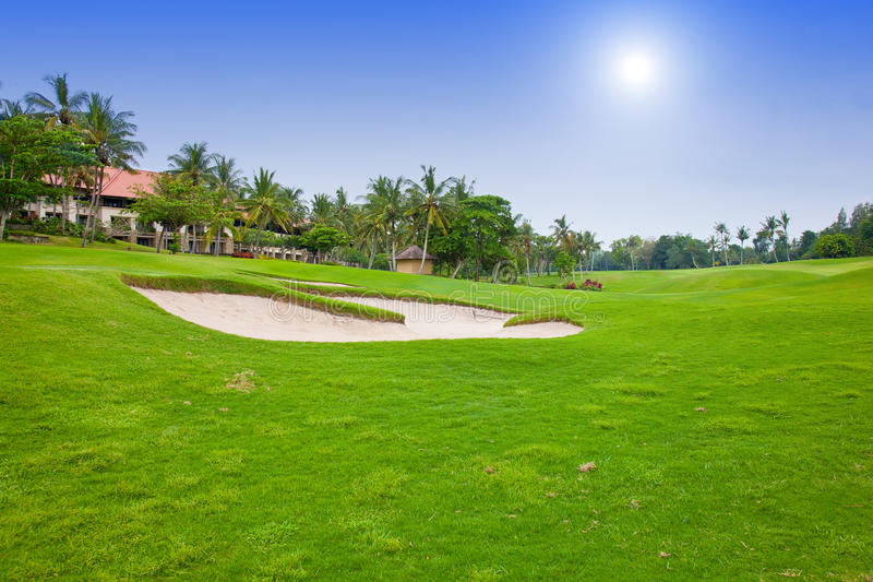 Download Golf course stock image. Image of golfing, sand, leisure - 26614511