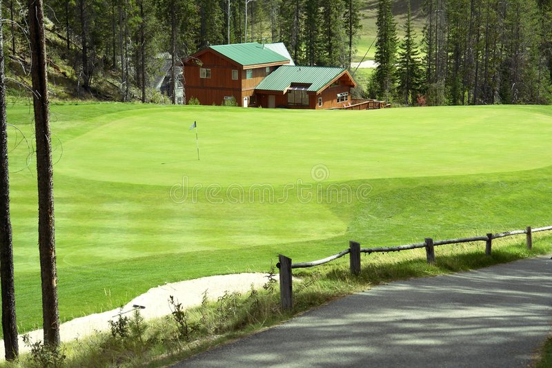 Download Golf Course stock image. Image of trap, cart, sand, flag - 3119431