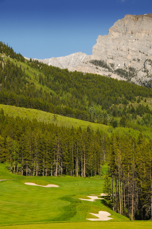 Golf Course. Land scape on green grass stock images