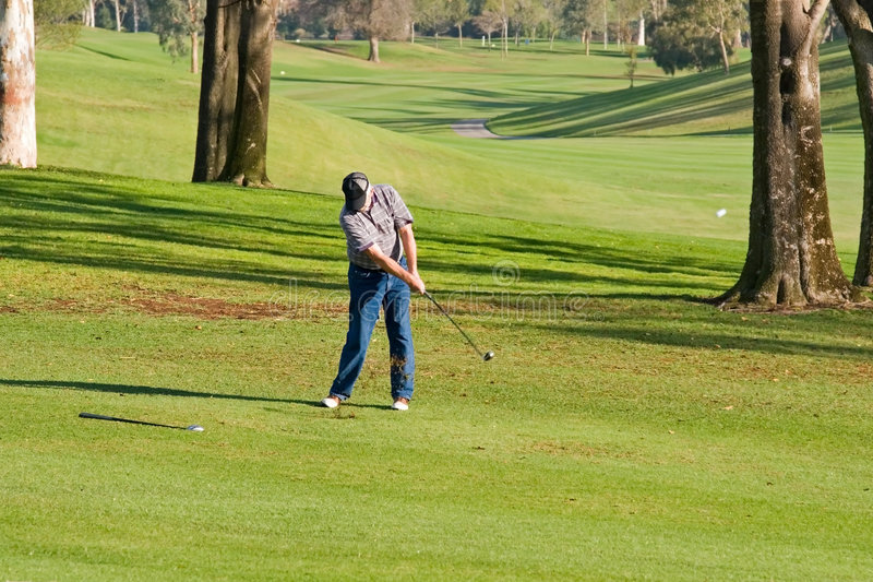 Golf Course Action royalty free stock photo