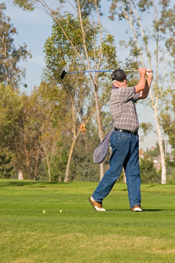 Golf Course Action stock photography
