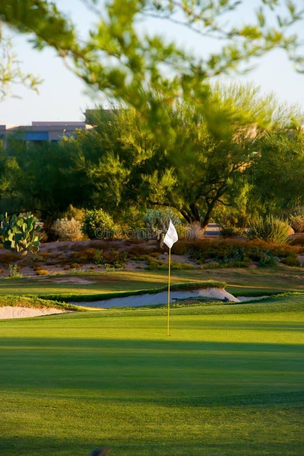 Golf course in the Arizona desert stock image