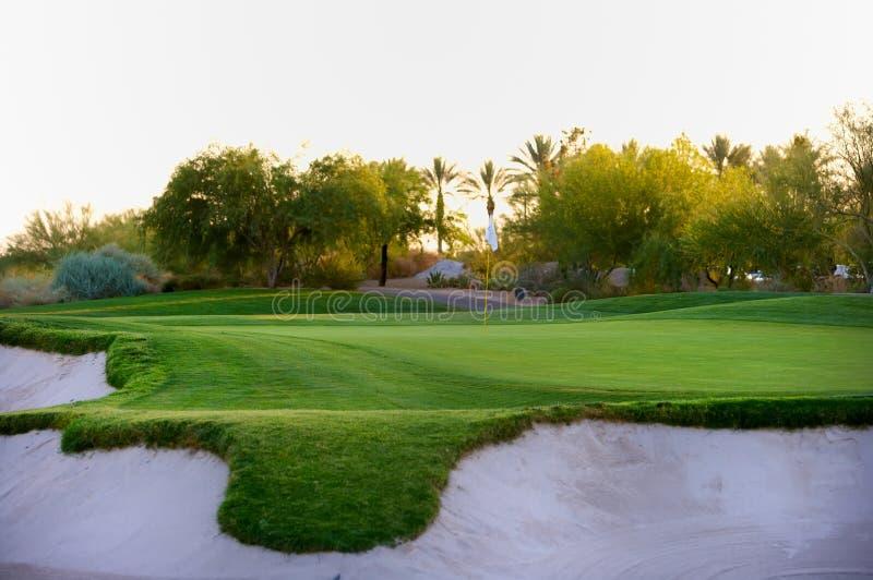 Golf course in the Arizona desert stock photography