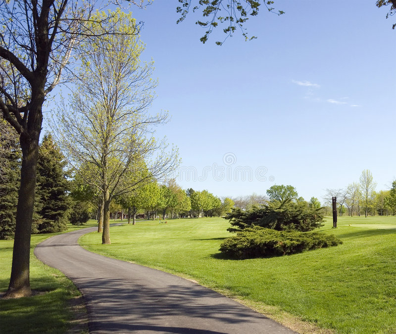 Download Golf Course Cart Path Royalty Free Stock Photo - Image: 8559965