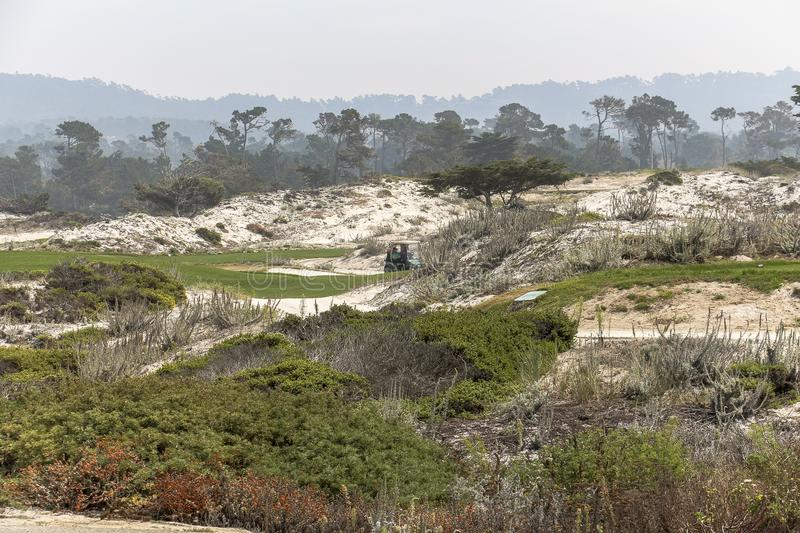 Golf course coast california stock images