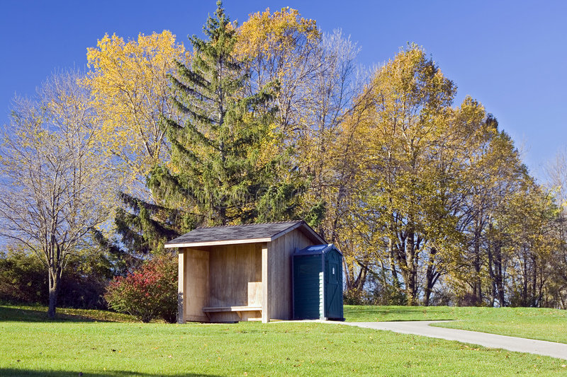 Download Golf Course Comfort Shelter Stock Image - Image: 8356341
