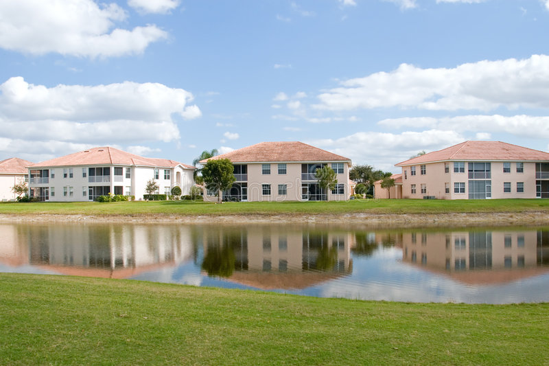 Download Golf Course Condos stock photo. Image of palm, building - 4356716