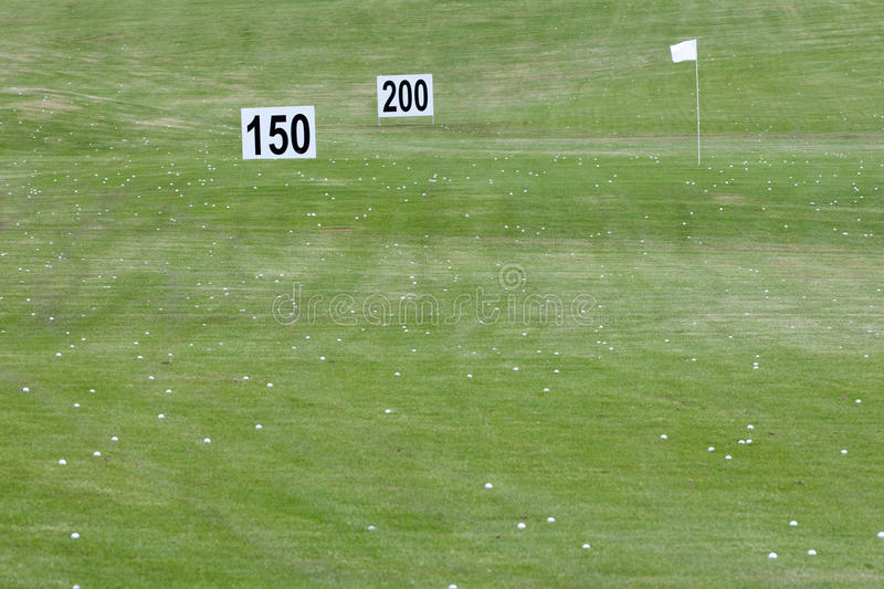 Golf Course With Distance Signs Stock Photography