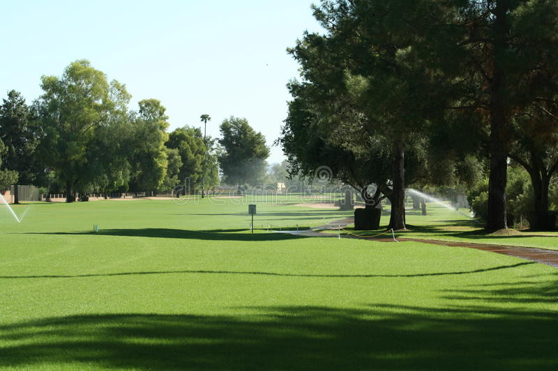 Download Golf Course Fairway With Irrigation. Royalty Free Stock Photography - Image: 11894927
