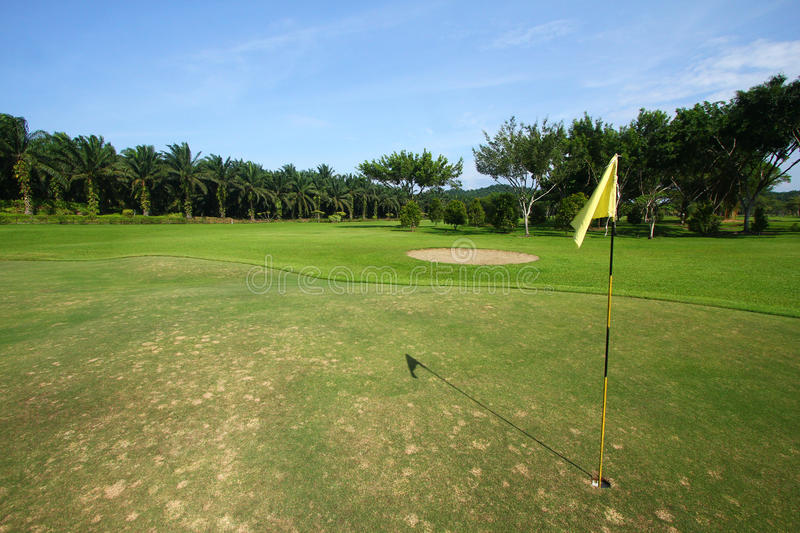 Download Golf course with flag stock photo. Image of greenery - 21348016