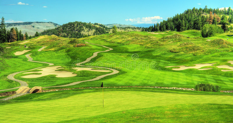 Download Golf Course Golfing Panorama Stock Image - Image: 6829913
