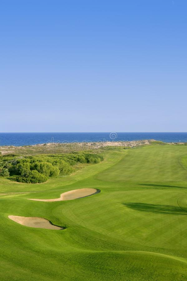Download Golf Course Green Grass Near Sea Ocean Stock Photo - Image: 12865112