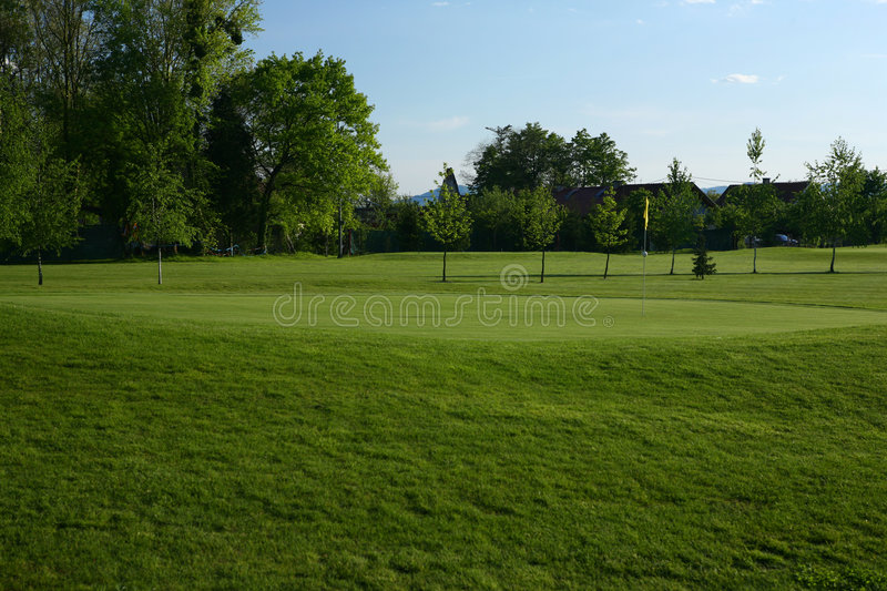Golf Course Greens Stock Image